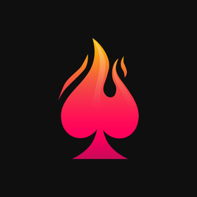 Altbet Logo, Red flame on spades card